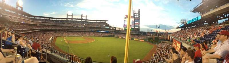 Seating view for Citizens Bank Park Section 206 Row 3 Seat 17