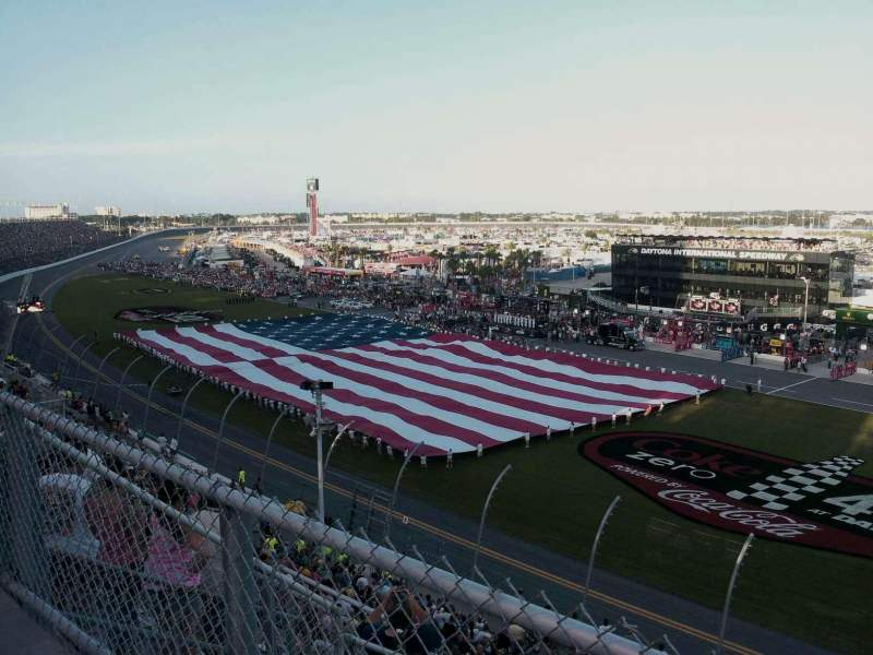 Seating view for Daytona International Speedway Section Sprint tower. Row 34 Seat 45
