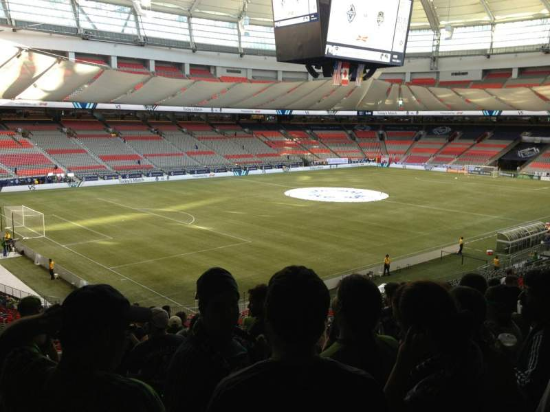 Seating view for BC Place Section 221 Row RR Seat 9