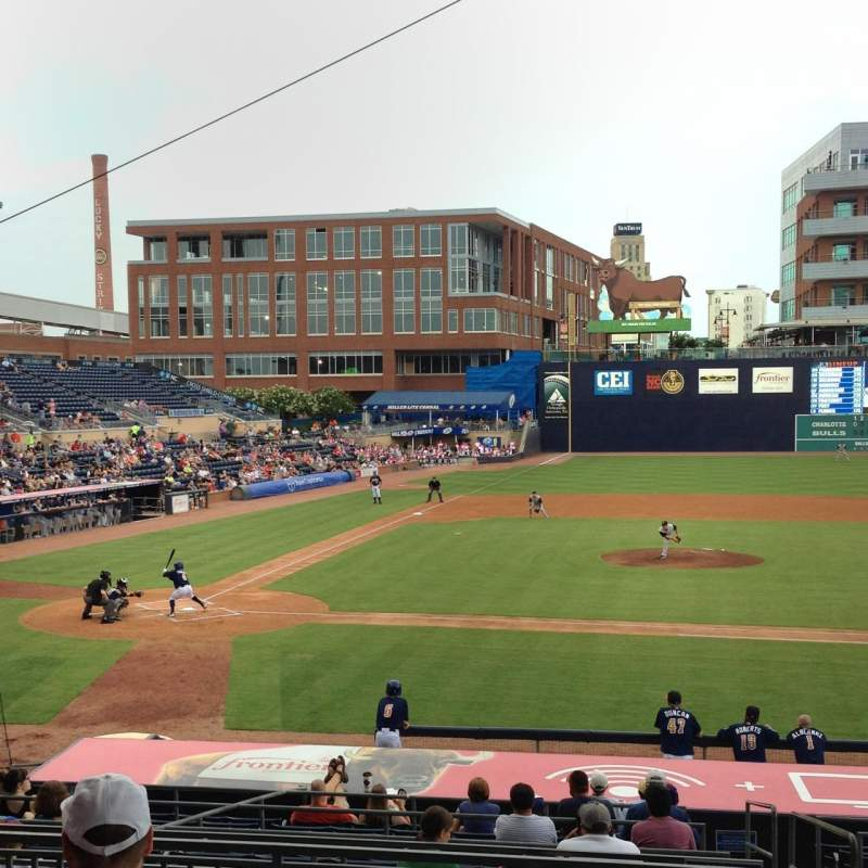 Seating view for Durham Bulls Athletic Park Section 208 Row 8 Seat 5