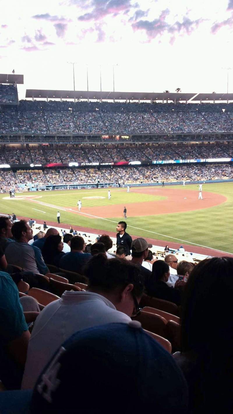 Seating view for Dodger Stadium Section 158LG Row h Seat 11