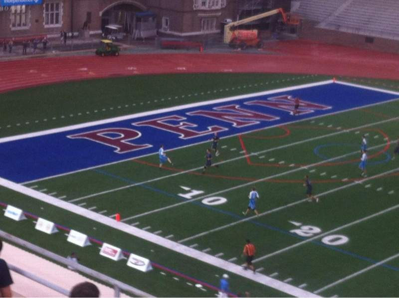 Seating view for Franklin Field Section Upper Deck Row 50 Yd Line