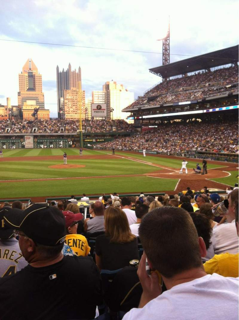 Seating view for PNC Park Section 121 Row H Seat 11