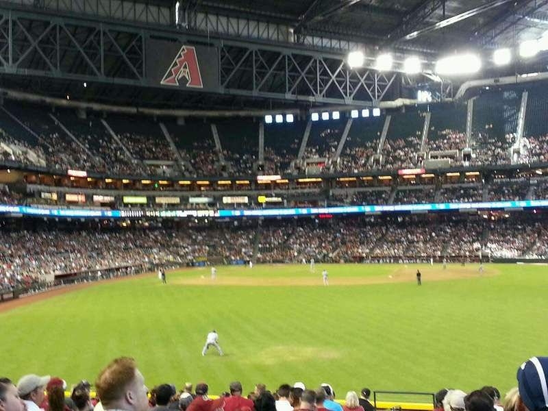 Seating view for Chase Field Section 102 Row 30 Seat 1