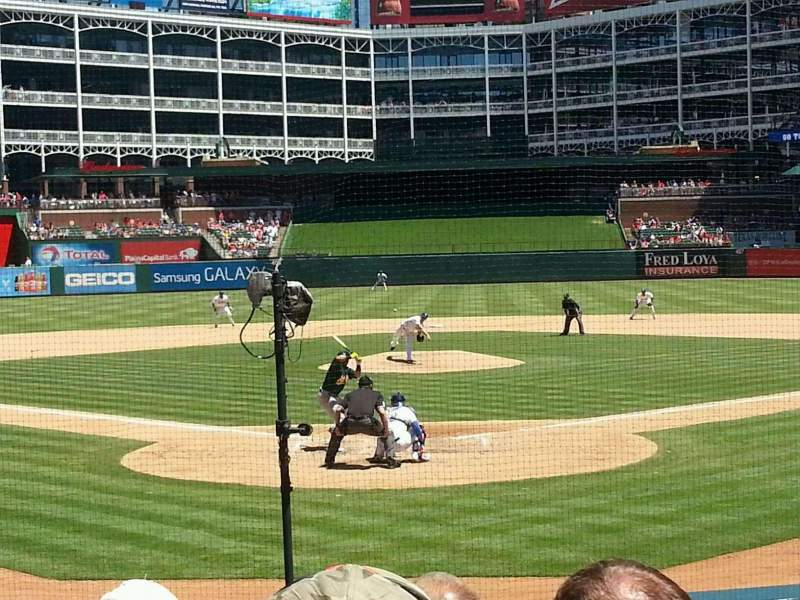 Seating view for Globe Life Park in Arlington Section 26 Row 18 Seat 8