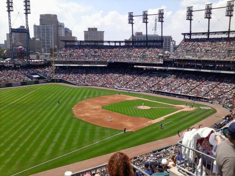 Seating view for Comerica Park Section 340 Row 1 Seat 6