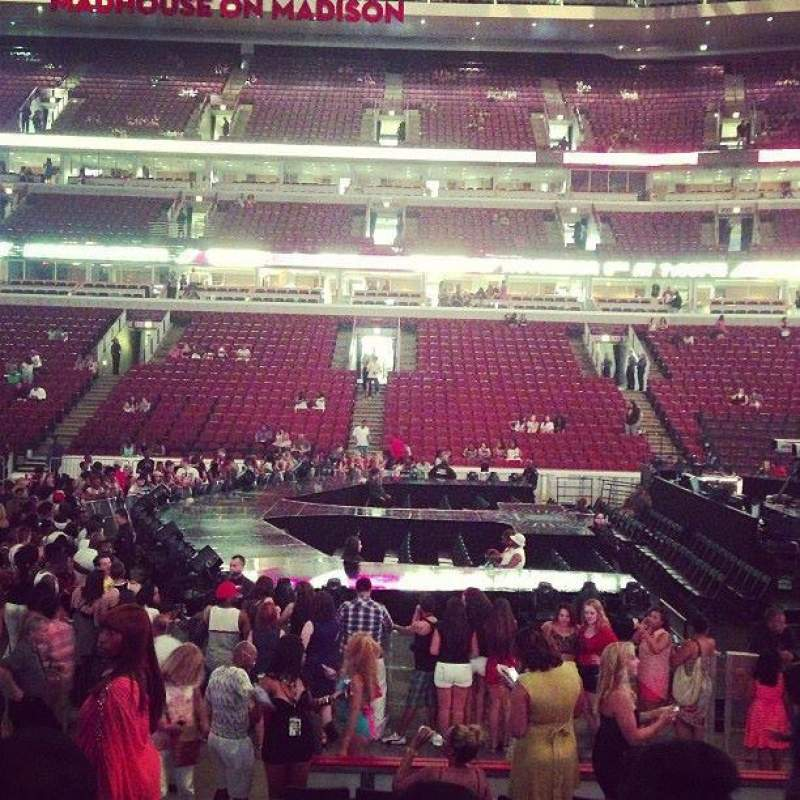 Seating view for United Center Section 110 Row 11 Seat 20