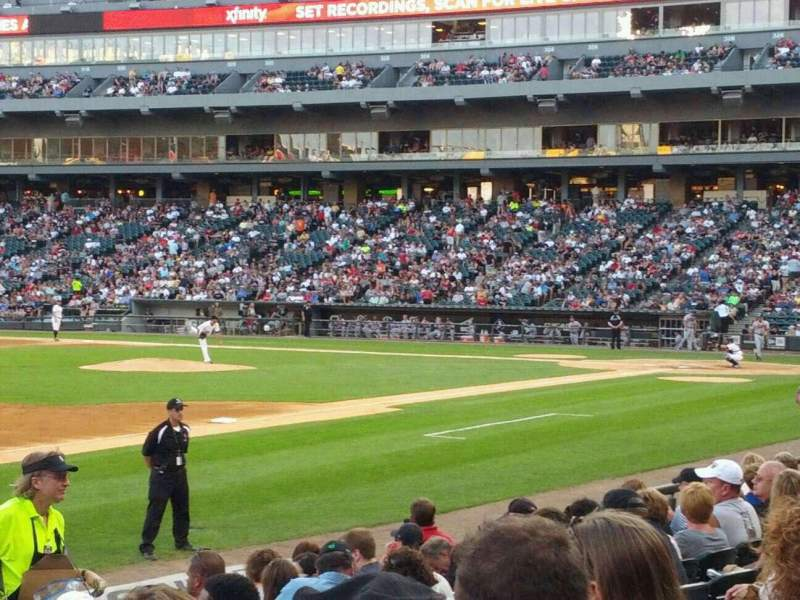 Seating view for Guaranteed Rate Field Section 145 Row 10 Seat 20