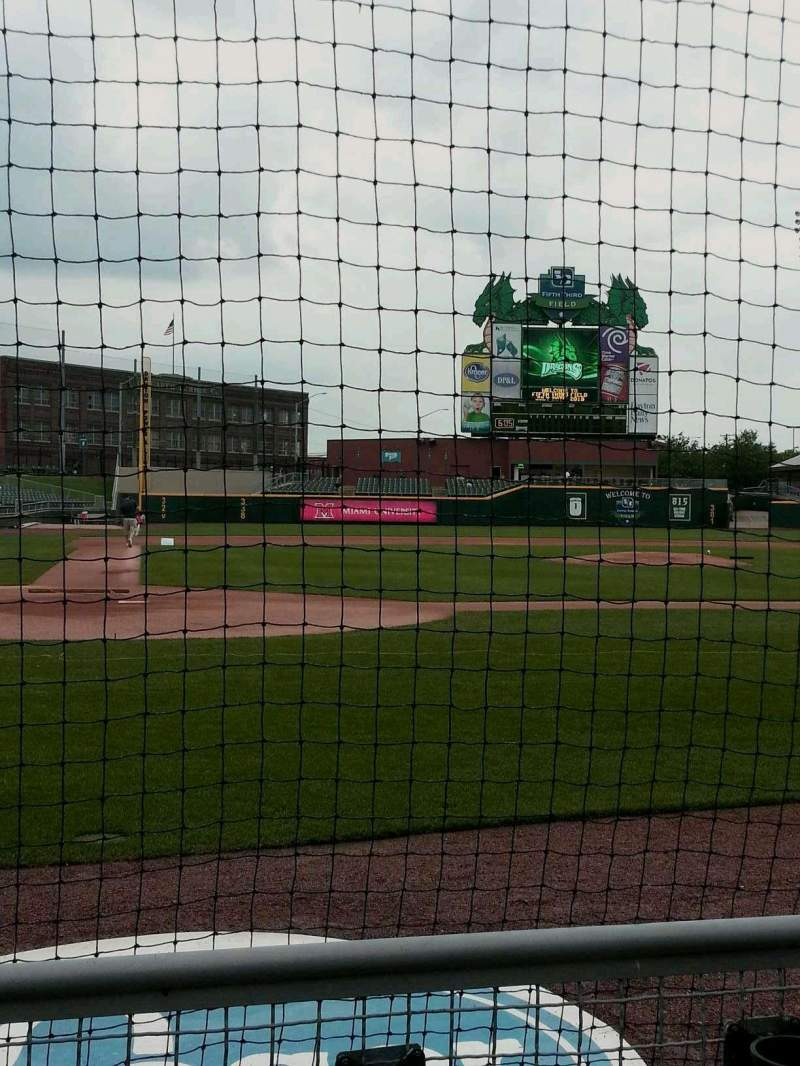 Seating view for Fifth Third Field (Dayton) Section 108 Row 2 Seat 6