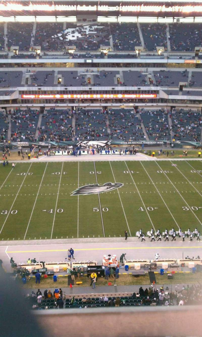 Seating view for Lincoln Financial Field Section 201 Row 1