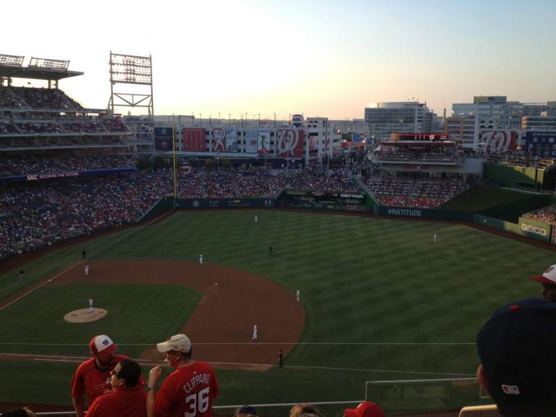 Seating view for Nationals Park Section 320 Row F Seat 3