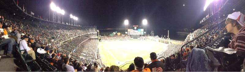 Seating view for AT&T Park Section 314 Row 9 Seat 3