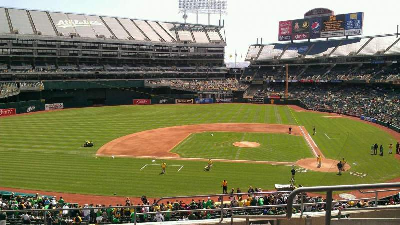 Seating view for Oakland Alameda Coliseum Section 221 Row 8 Seat 8