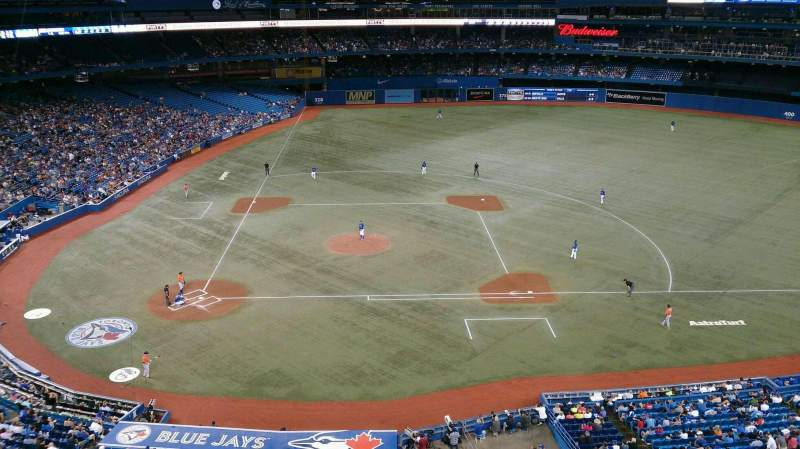 Seating view for Rogers Centre Section 520R Row 1 Seat 5