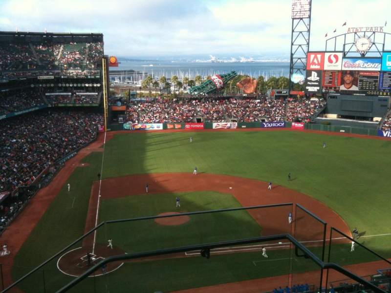 Seating view for AT&T Park Section 311 Row 2 Seat 1