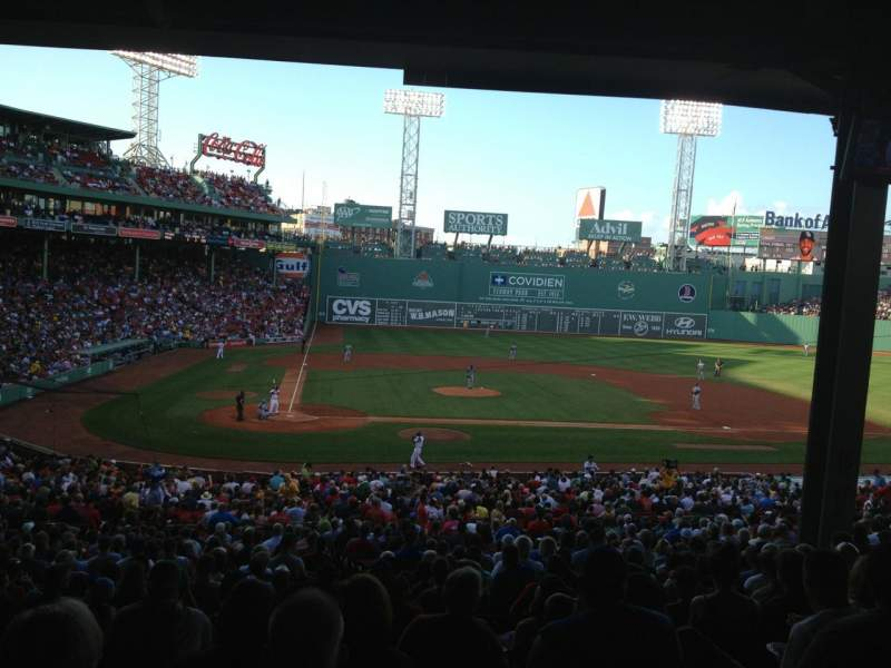 Seating view for Fenway Park Section Grandstand 17 Row 12 Seat 14