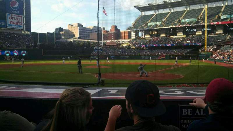 Seating view for Progressive Field Section 156 Row g Seat 1