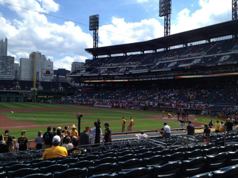 Seating view for PNC Park Section 124 Row H Seat 11