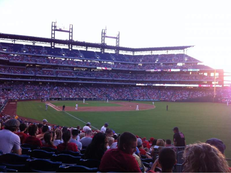 Seating view for Citizens Bank Park Section 108 Row 33 Seat 4