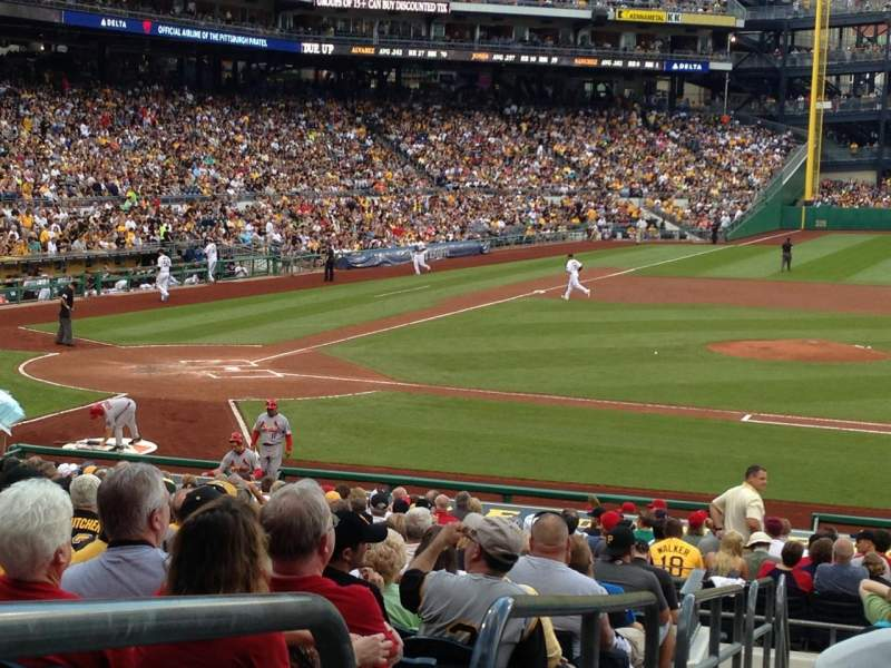 Seating view for PNC Park Section 110 Row S Seat 16