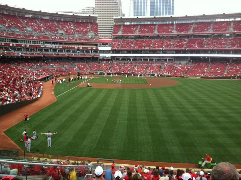 Seating view for Great American Ball Park Section 141 Row T Seat 19