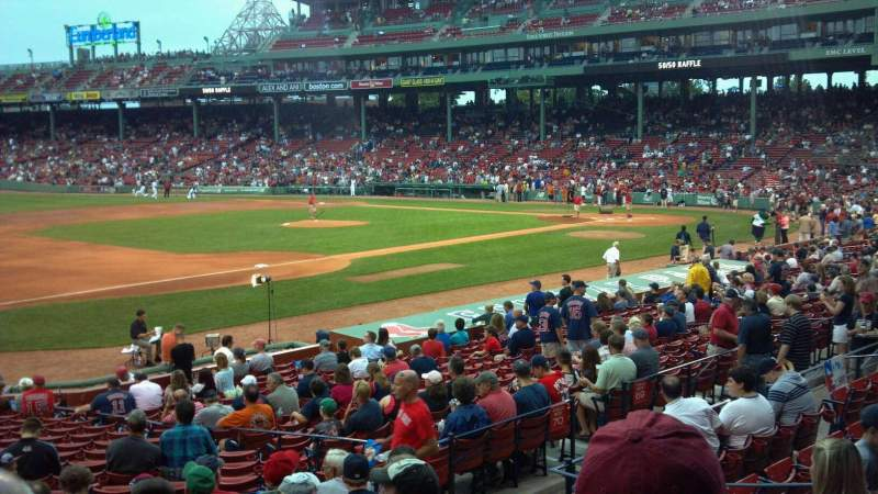 Seating view for Fenway Park Section Loge Box 157 Row Kk