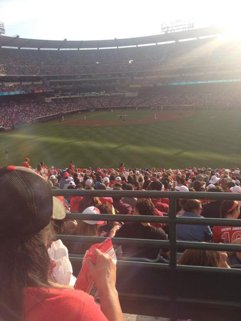 Seating view for Angel Stadium Section P247 Row B Seat 15