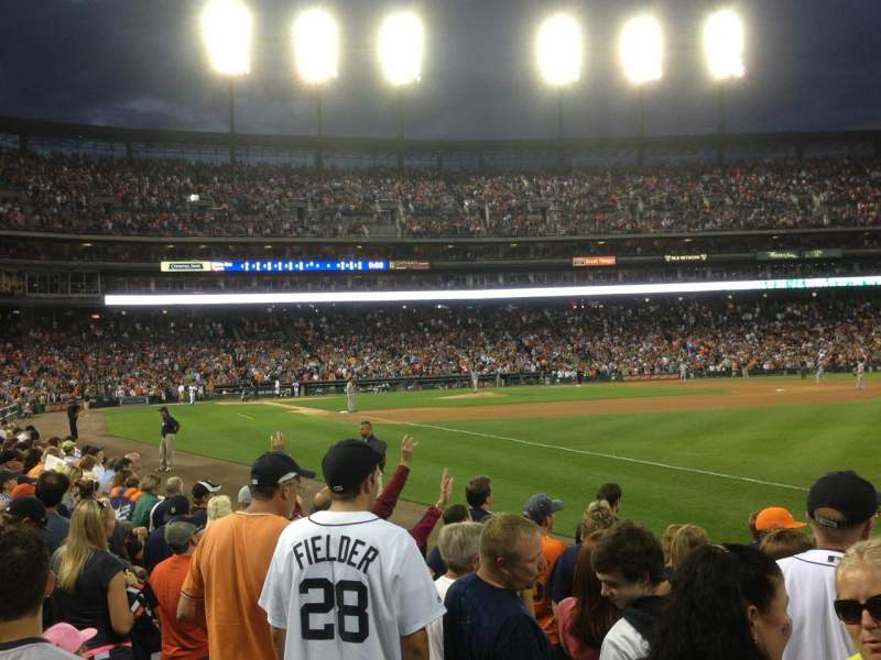 Seating view for Comerica Park Section 114 Row 10 Seat 1