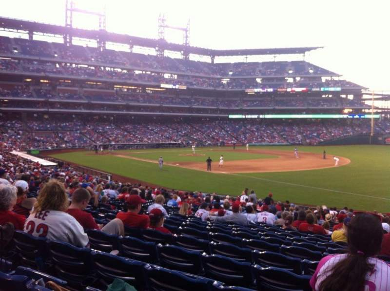 Seating view for Citizens Bank Park Section 111 Row 29 Seat 8