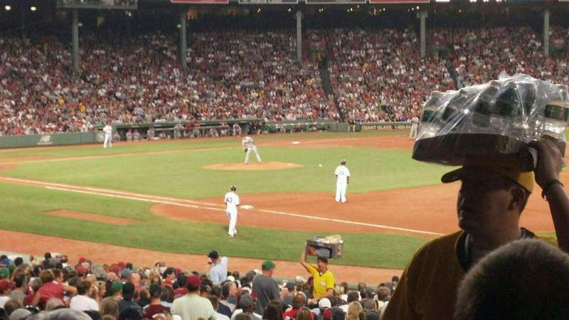 Seating view for Fenway Park Section Loge Box 100 Row RR Seat 1