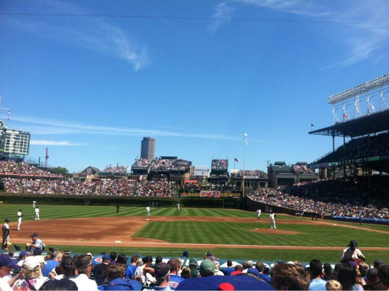 Seating view for Wrigley Field Section 114 Row 4 Seat 102