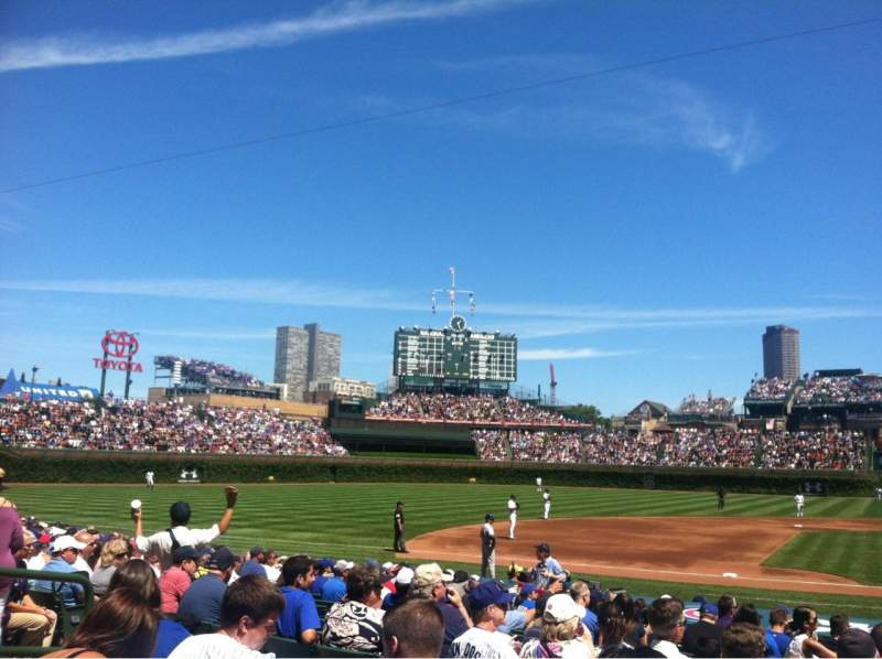 Seating view for Wrigley Field Section 114 Row 4 Seat 101