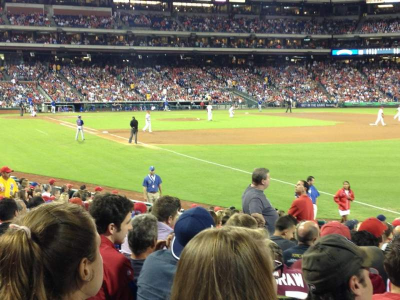 Seating view for Citizens Bank Park Section 109 Row 21 Seat 15