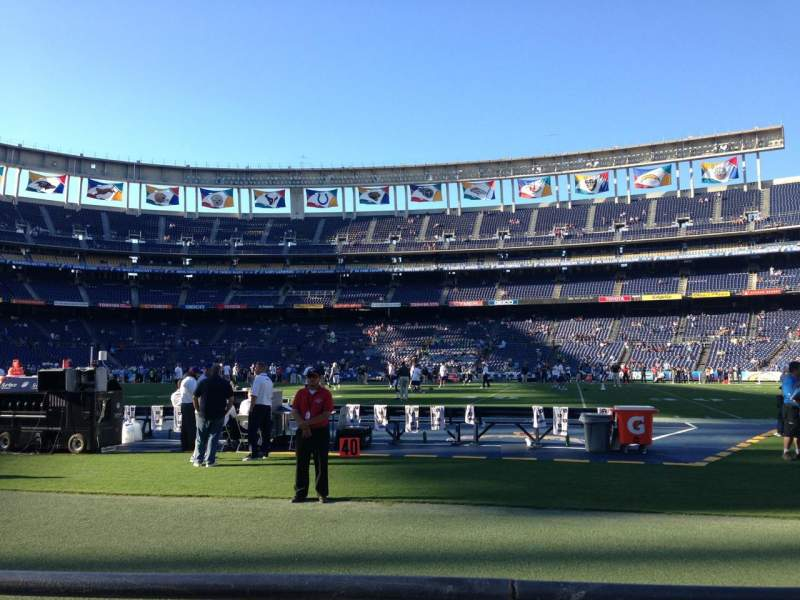 Seating view for Qualcomm Stadium Section F38 Row 2 Seat 7