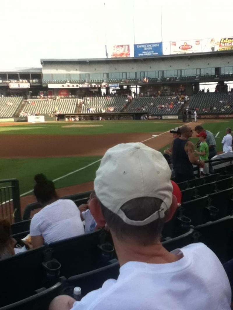 Seating view for Dell Diamond Section 112 Row 7 Seat 11