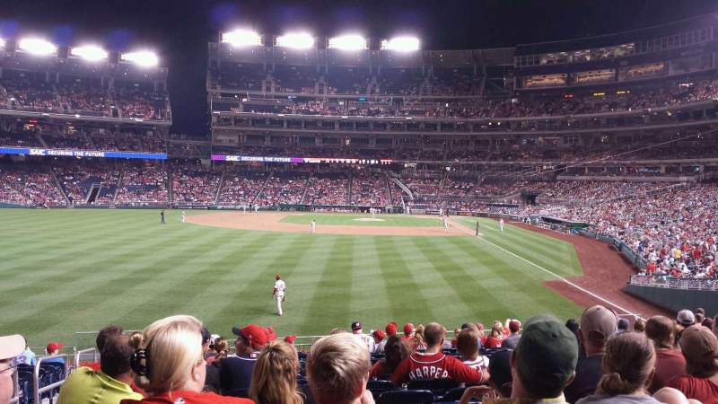 Seating view for Nationals Park Section 105 Row T Seat 19