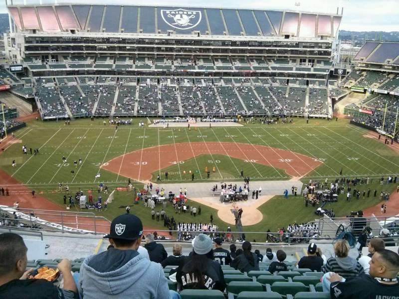 Seating view for Oakland Alameda Coliseum Section 318 Row 14 Seat 19