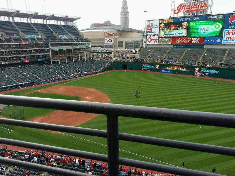 Seating view for Progressive Field Section 430 Row a Seat 5