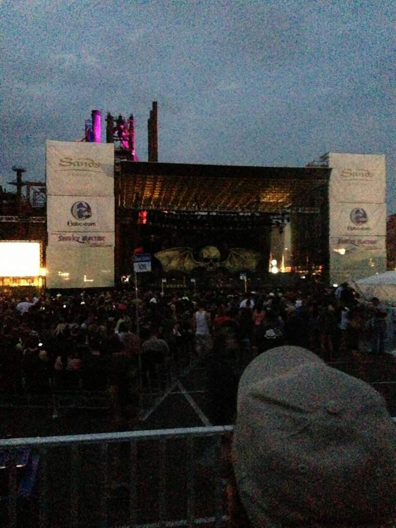 Sands Steel Stage, section: 205, row: B, seat: 12