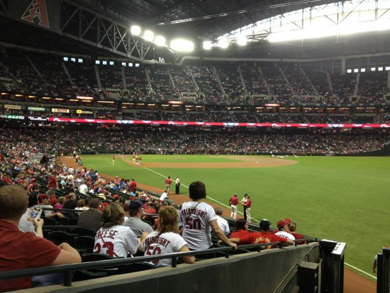 Seating view for Chase Field Section 108 Row 25 Seat 11