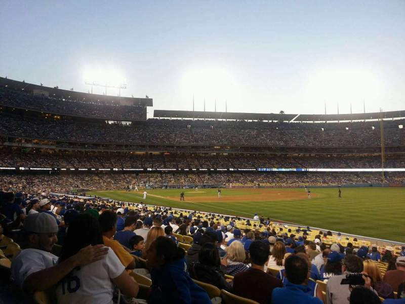 Seating view for Dodger Stadium Section 44FD Row S Seat 15