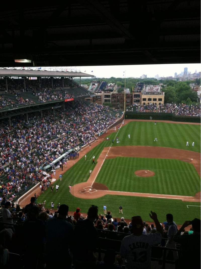 Wrigley Field, section 527, home of Chicago Cubs