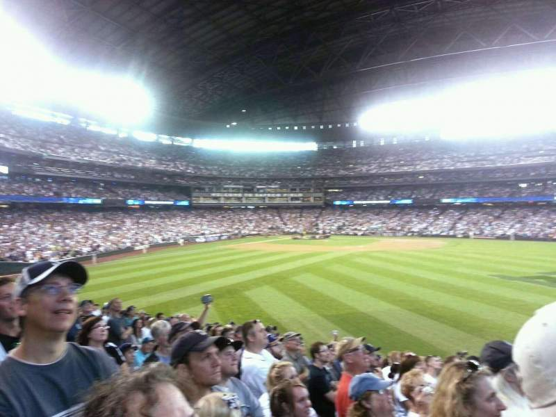 Seating view for T-Mobile Park Section 105 Row 37 Seat 7