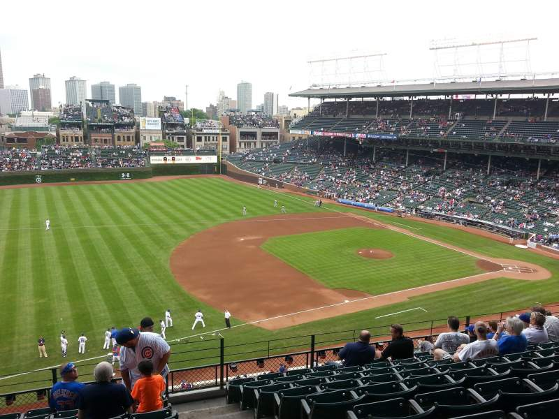 Seating view for Wrigley Field Section 409 Row 9 Seat 101