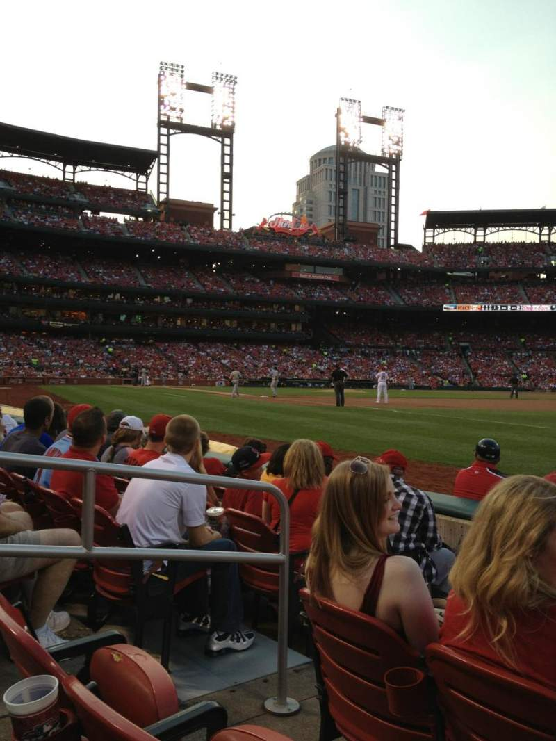 Seating view for Busch Stadium Section 137 Row E Seat 4