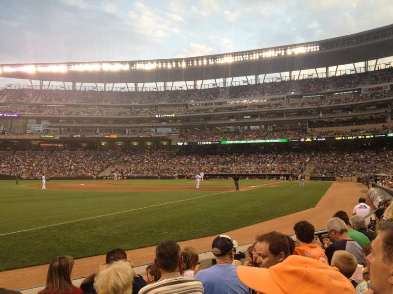 Target Field, section: 125, row: 5, seat: 15