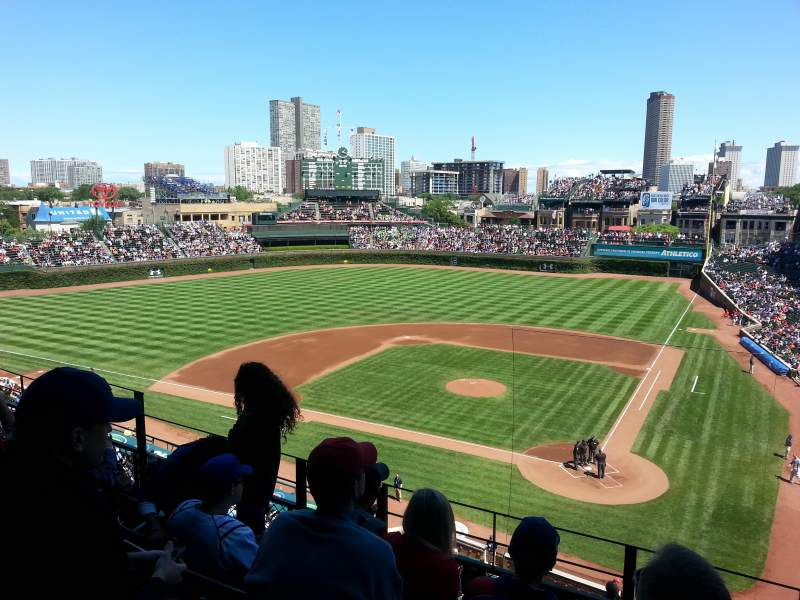 Seating view for Wrigley Field Section 417 Row 4 Seat 7