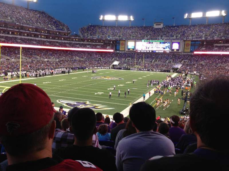 Seating view for M&T Bank Stadium Section 136 Row 34 Seat 14