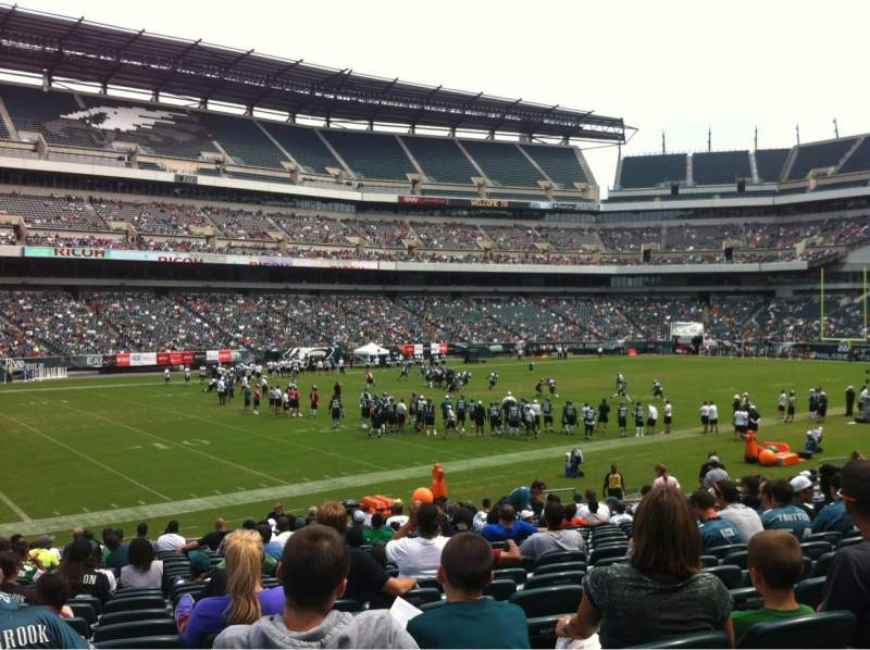 Seating view for Lincoln Financial Field Section 135 Row 21 Seat 18