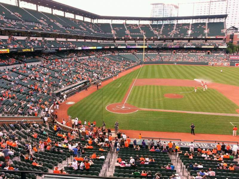 Seating view for Oriole Park at Camden Yards Section 220 Row 3 Seat 13